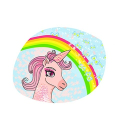 Unicorn with a rainbow vector image