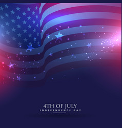 beautiful american flag background vector image vector image