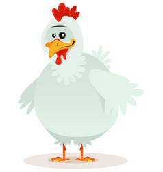 cute chicken character vector image