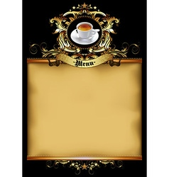 menu design with coffee vector image