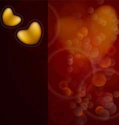 Shiny hearts bokeh light Valentines day background vector image