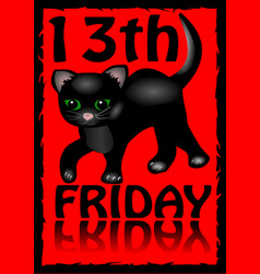13th friday poster humorous flyer with a little vector
