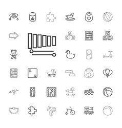 33 toy icons vector