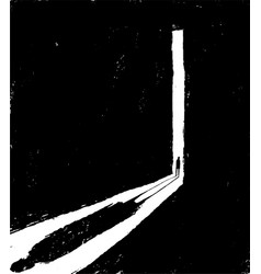 A peson opening door to dark room depression vector
