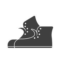 A sneaker icon on white background vector