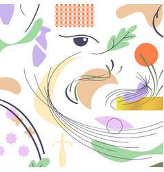 Arabic minimalism pattern in flat style vector