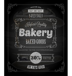 Bakery Poster on Chalk Board vector