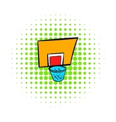 Basketball goal icon comics style vector