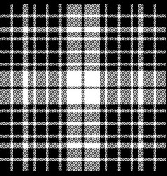 black and white diagonal plaid seamless pattern vector image