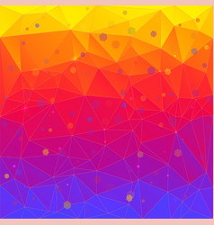 Bright abstract background of triangles vector