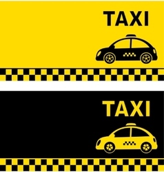 business card and retro taxi car vector image