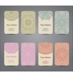 Business card Vintage geometric elements vector image