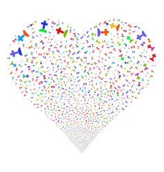 Cemetery fireworks heart vector