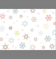 christmas colorful snowflake pattern background vector image