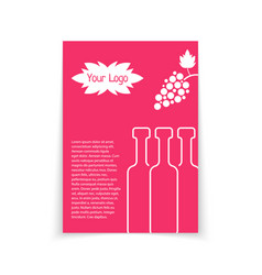 Colored brochure for wine shop vector