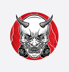 design traditional japanese mask tattoo vector image