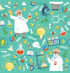 different chemical or biological tools professor vector image