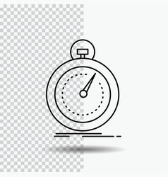 Done fast optimization speed sport line icon on vector