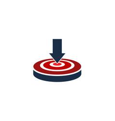 download target logo icon design vector image