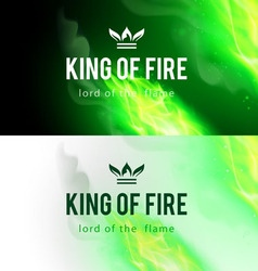Fire flames effect vector image