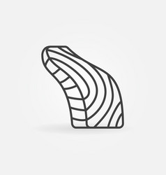 Fish steak outline icon salmon fish slice vector