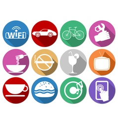 Flat icons service vector image