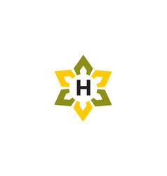 Flower infinity letter h vector