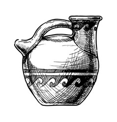 greek vase askos vector image