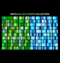 green blue glossy gradient metal foil texture vector image