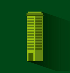 green building isolated icon vector image