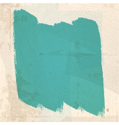 Grungy green paint strokes vector