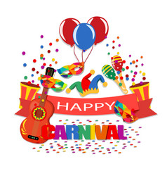 Happy carnival a tape with an inscription a vector