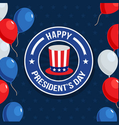 happy presidents day vector image