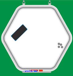 Hexagonal whiteboard vector image
