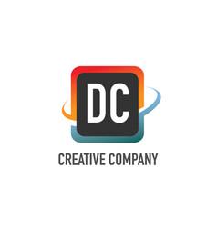 initial letter dc swoosh creative design logo vector image
