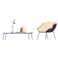 Interior design home or office minimalist vector