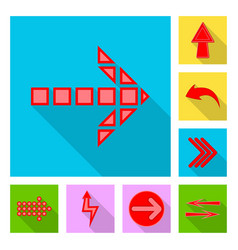 isolated object of element and arrow logo vector image