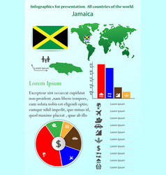 jamaica infographics for presentation all vector image
