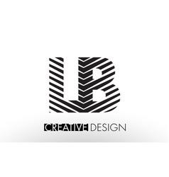 Lb l b lines letter design with creative elegant vector