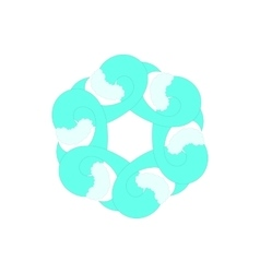 Light sky blue abstract circle icon cartoon style vector