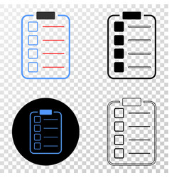 list items pad eps icon with contour vector image