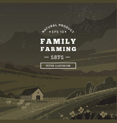 Logo a family farm with text and a year vector