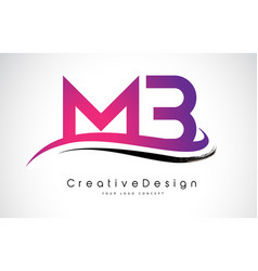 Mb m b letter logo design creative icon modern vector