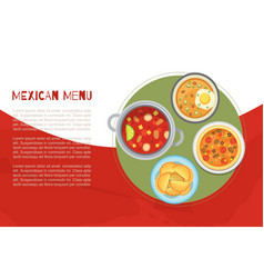 mexican menu and national cuisine poster vector image