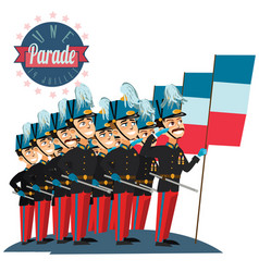 military parade during ceremonial french vector image