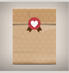 packaging brown paper bag vector image