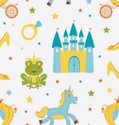 Princess frog pattern vector image