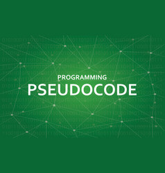 Programming pseudocode concept white vector