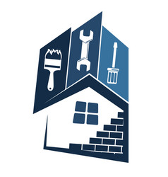 Repair and maintenance of houses vector