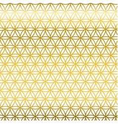 Sacred geometry golden gradient flower of life vector
